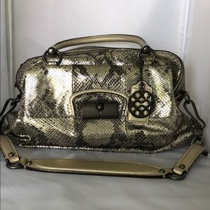 Python limited edition Coach shoulder bag